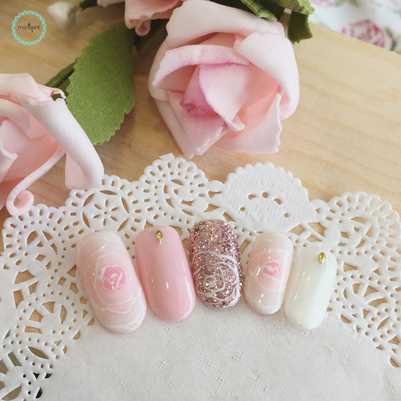 Bride-to-Be Nails Wedding Bridal Manicure 7
