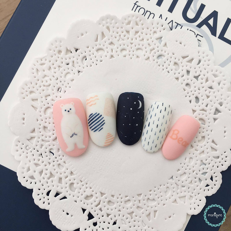 Polar Bear Manicure Animal Nails