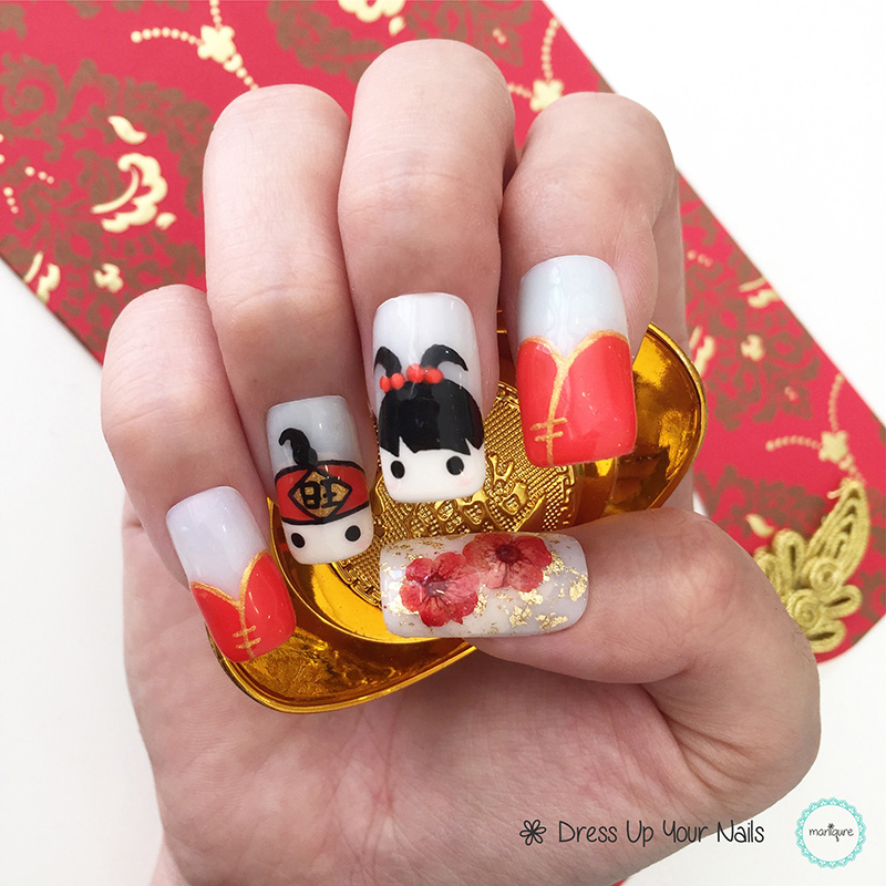 Chinese New Year Nails - CNY Manicure 1