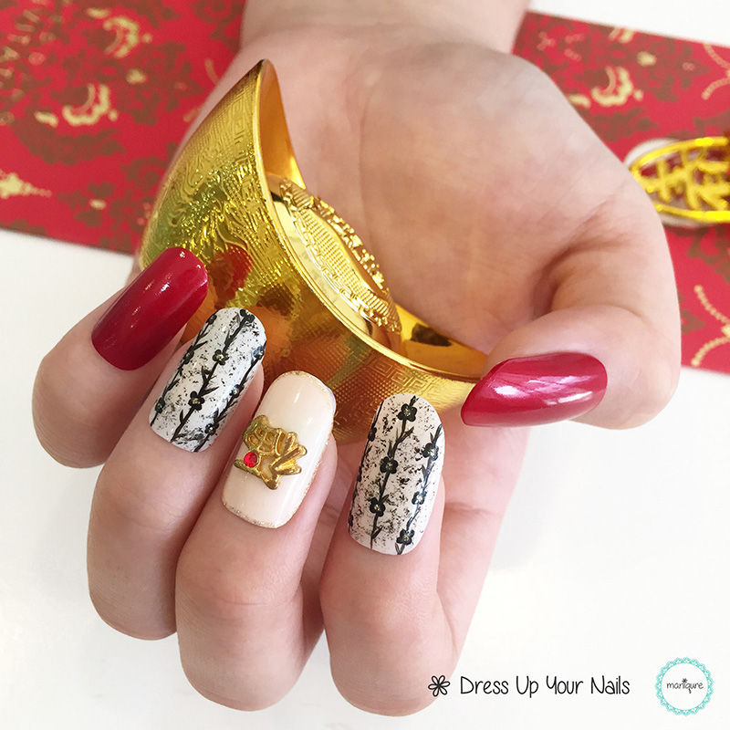 Chinese New Year Nails - CNY Manicure 12