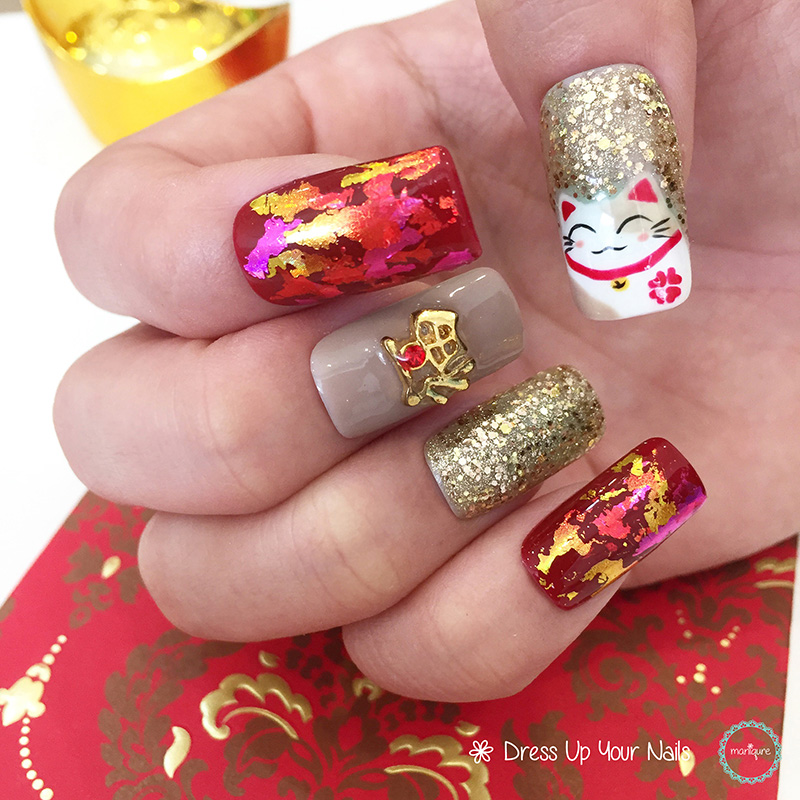 Chinese New Year Nails - CNY Manicure - Maniqure Nail Salon