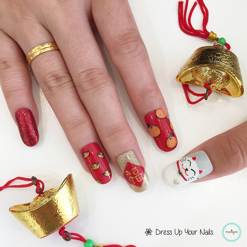 Chinese New Year Nails - CNY Manicure 3
