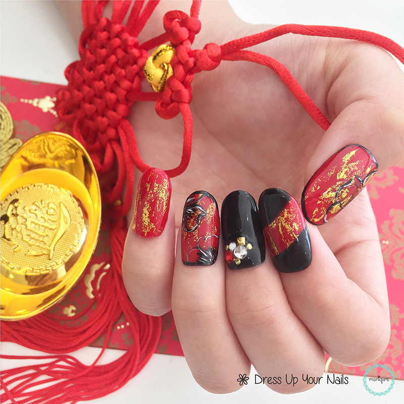 Chinese New Year Nails - CNY Manicure 4