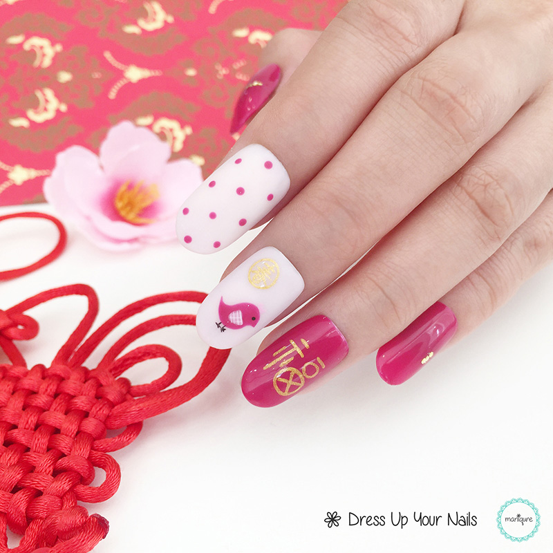 Chinese New Year Nails - CNY Manicure 6