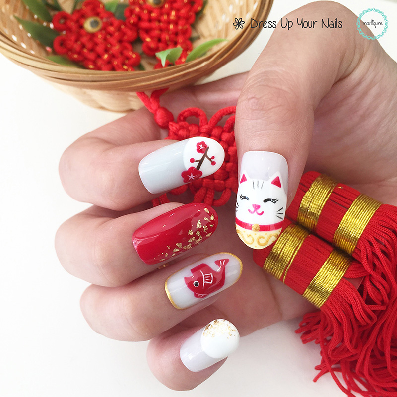 Chinese New Year Nails - CNY Manicure 7