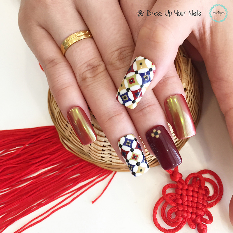Chinese New Year Nails - CNY Manicure 9