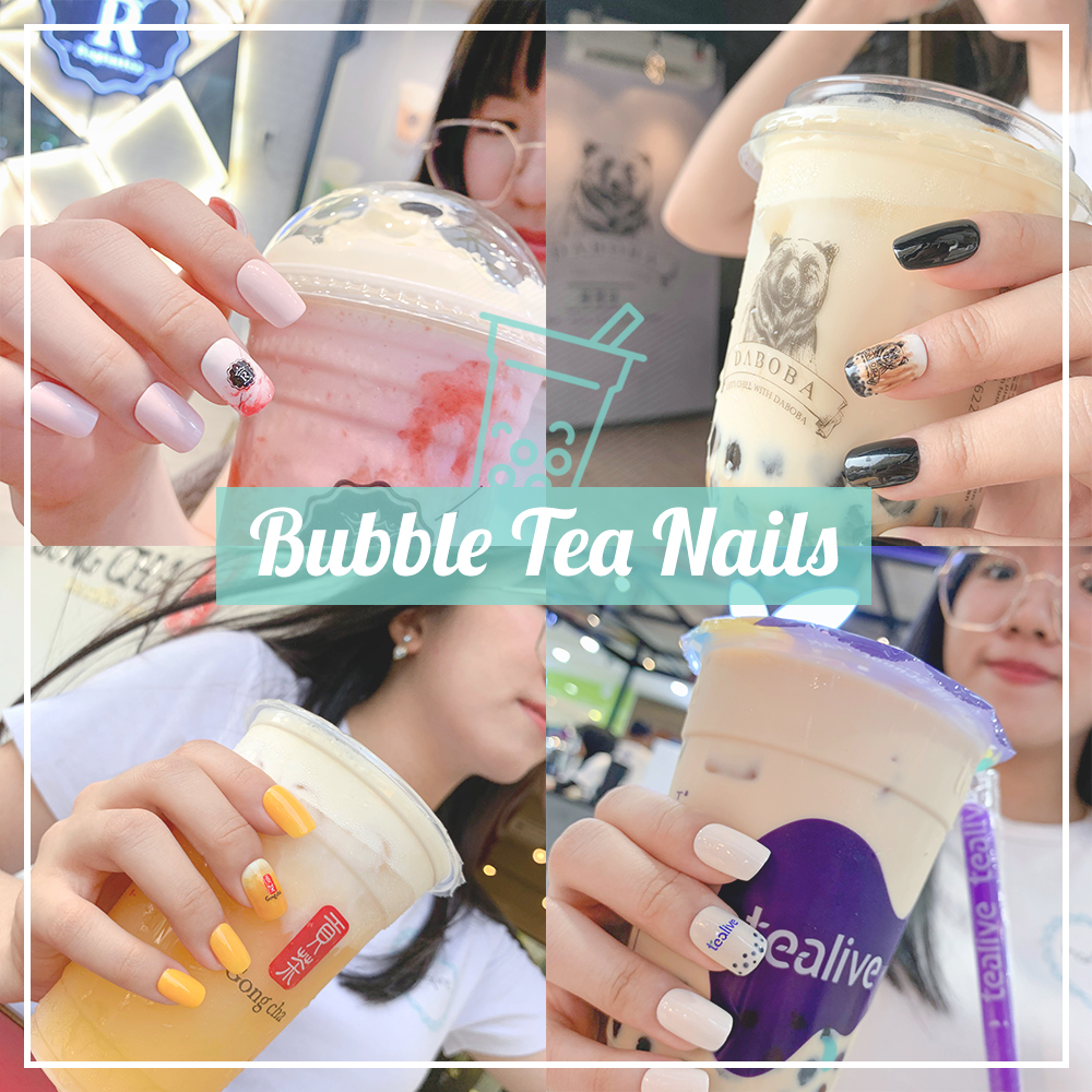 Bubble Tea Nails - Boba Manicure