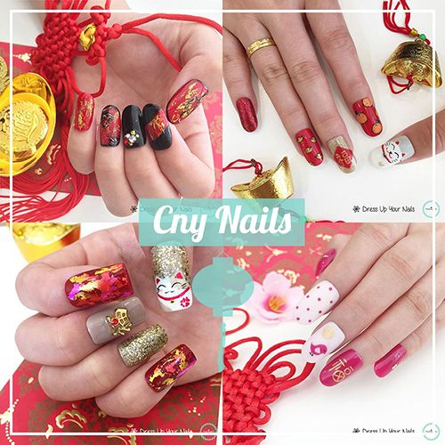 Chinese New Year Nails - CNY Manicure Celebration