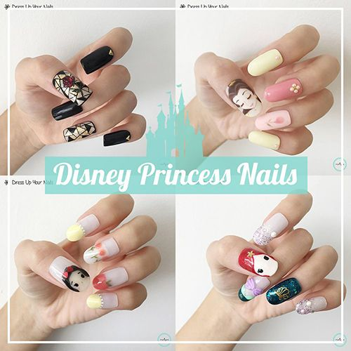 Disney Princess Nails - Cartoon Manicure