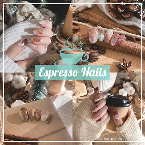Espresso Nails - Coffee Christmas Manicure