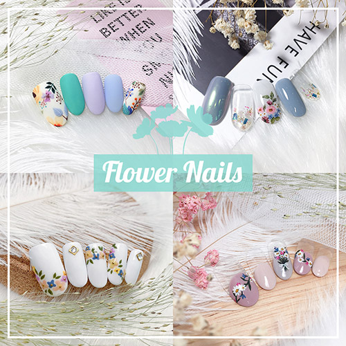 Flower Nails - Floral Spring Manicure