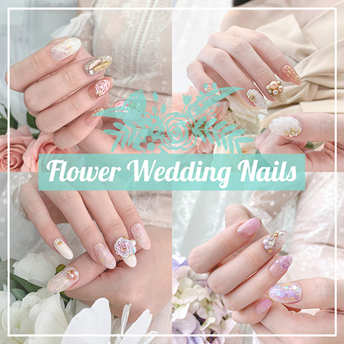 Flower Wedding Nails