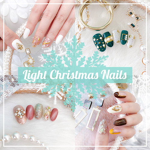 Light Christmas Nails