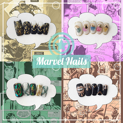 Marvel Nails - The Avengers Manicure