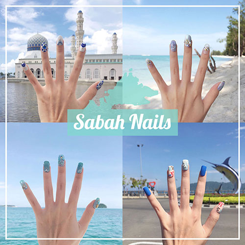Sabah Nails - Travel Themed Manicure