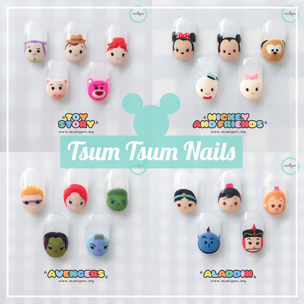 Tsum Tsum Nails - Disney Manicure