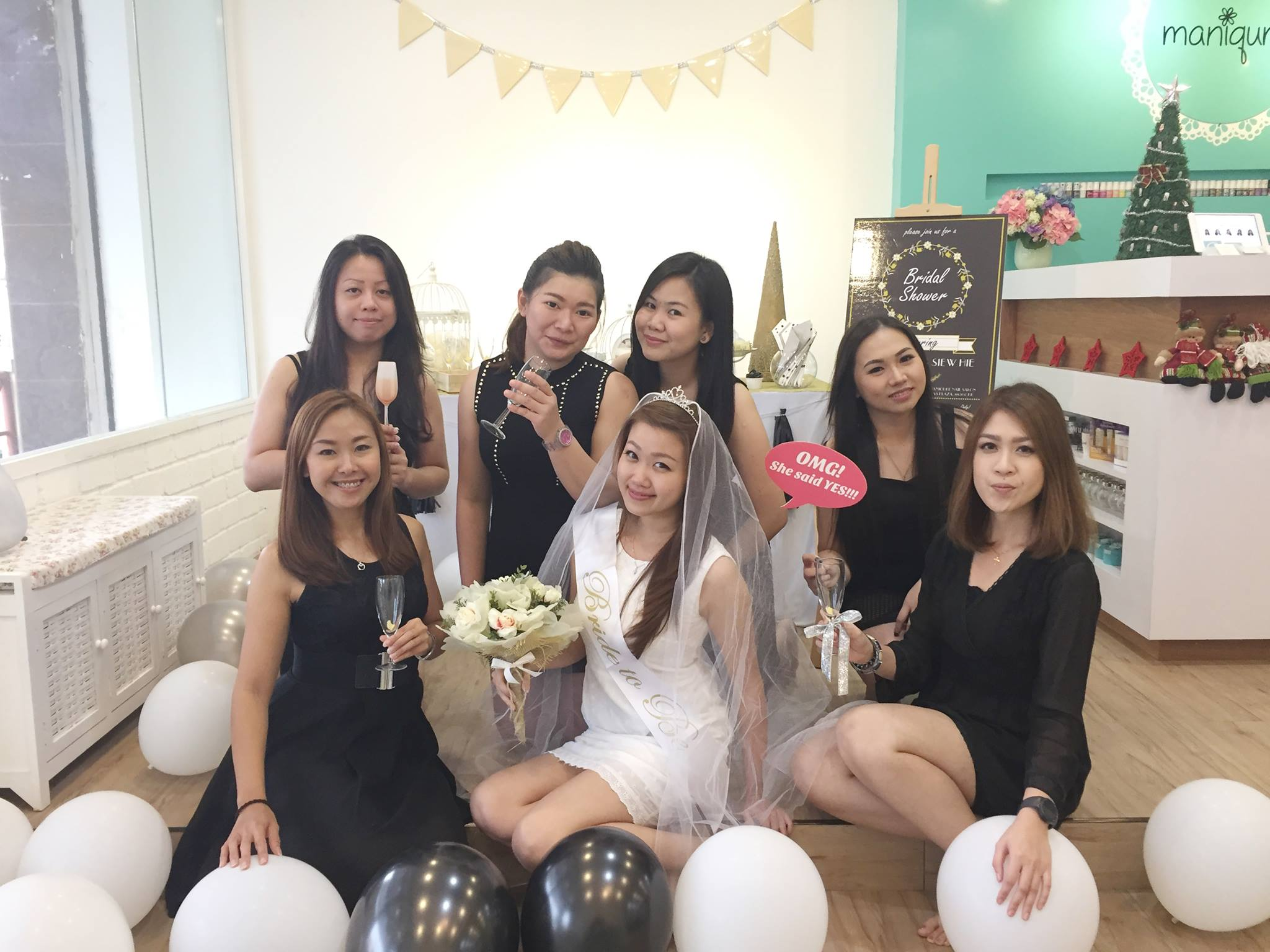 bridal shower maniqure nail salon dress up your nails