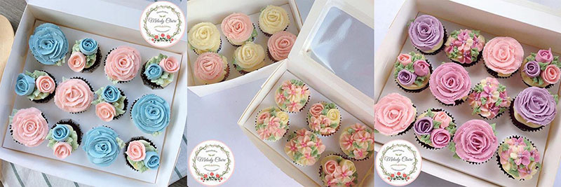 Melody Claire Confectionaries Flowery Cup Cake