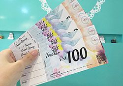 Nail salon cash vouchers