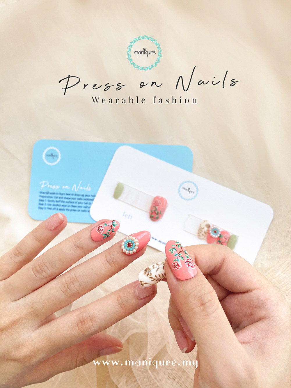 Press-on Nails Malaysia - Fake Nails Artificial Manicure